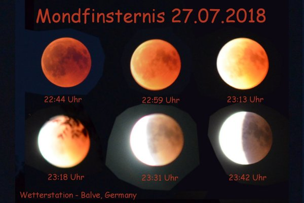 Mondfinsternis, Blutmond 27.07.2018 -  Wetterstation Balve