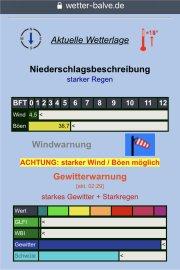 Heftige Gewitterfront mit Starkregen am 20.06.2021 über Balve